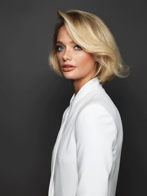 Long Bob Frisuren Damen Helle Haarfarbe 2019
