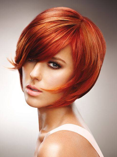Frisuren in rot