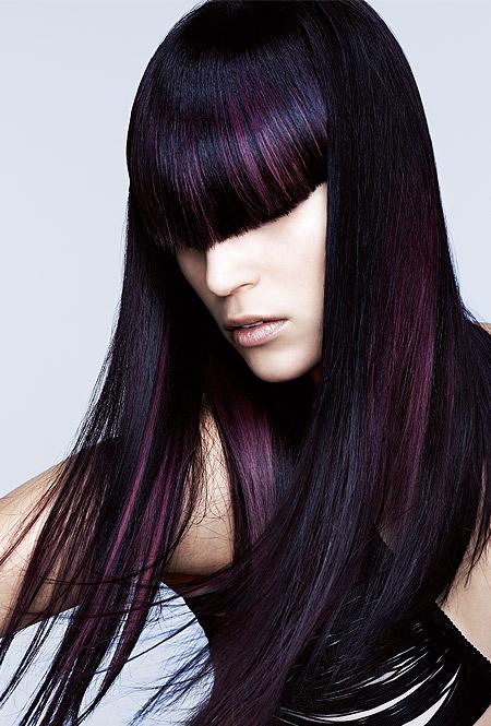 Frisuren schwarz lila