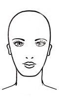 Frisurenberatung - eckige Gesichtsform