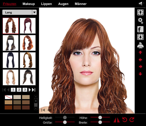 Frisuren styler test