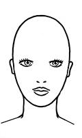 Frisurenberatung - ovale Gesichtsform