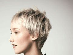Blonde fransige kurzhaarfrisuren