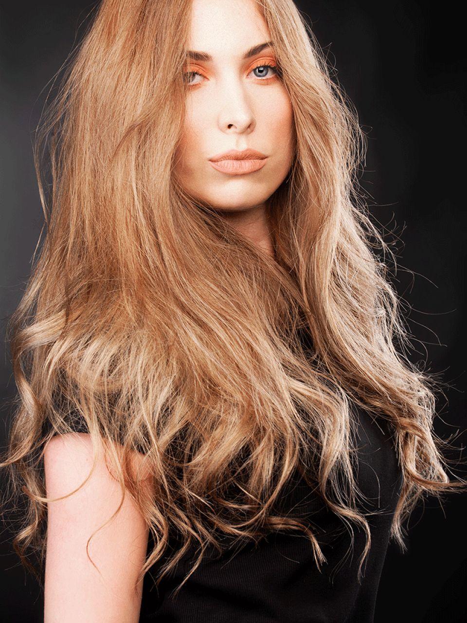 Strähnen rot blond