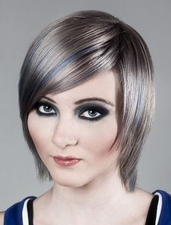 Frisuren graue strahnchen