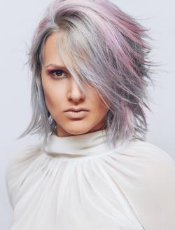 Graue Mittellange Haare Damen Friseur Com