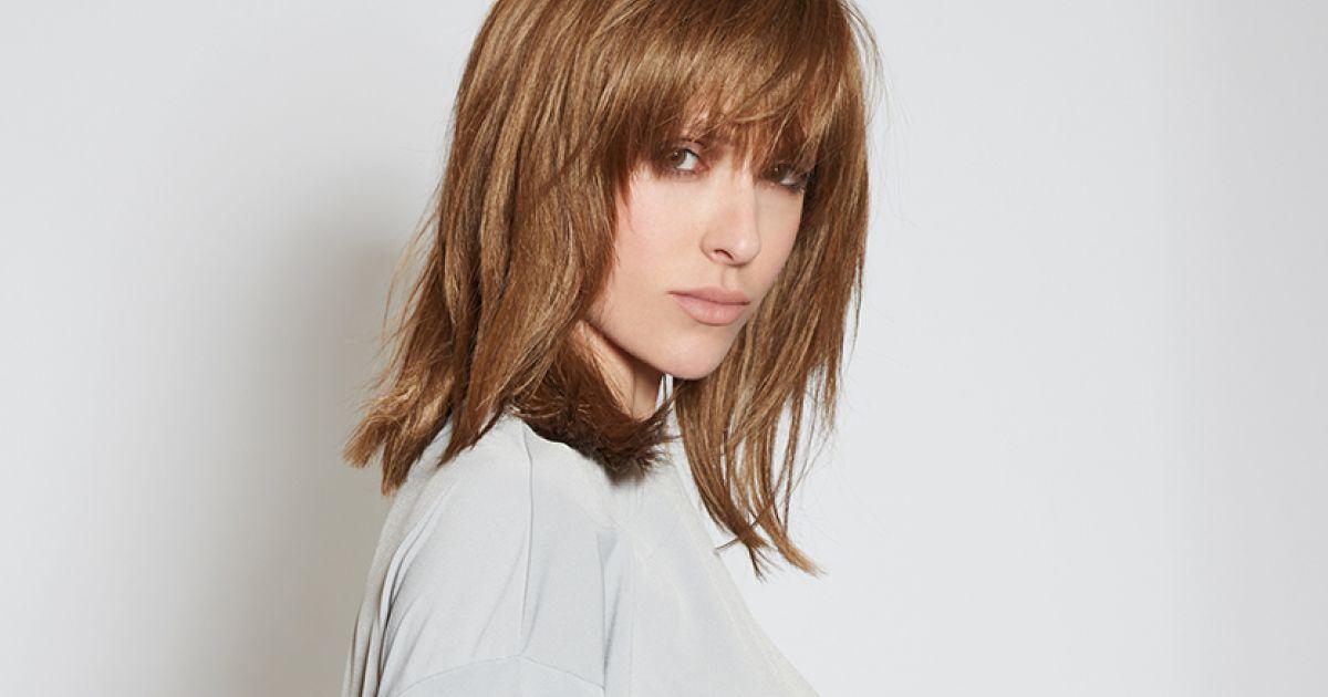 Stufig lange haare pony Haarschnitt Für