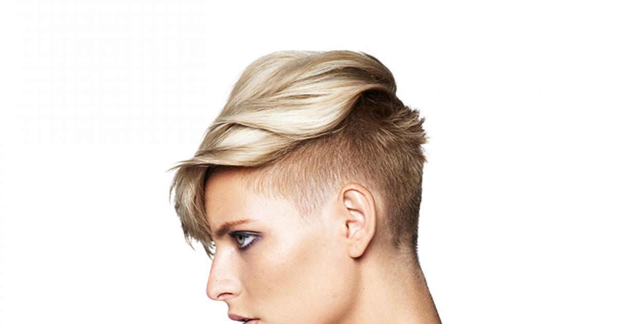 Sidecut frauen lange haare