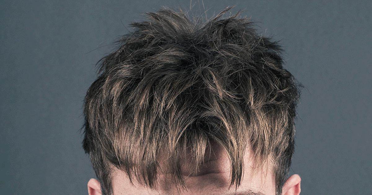 Schwarze haare mit grauen straehnen